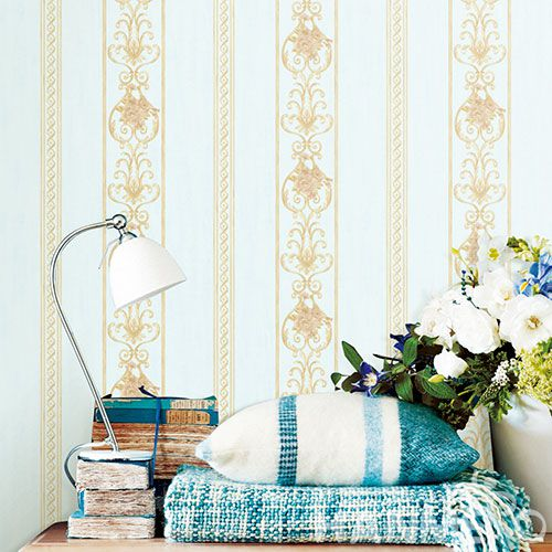 HANMERO Modern Classic Style Stripes Non-woven Wallpaper for Home Living Room Wall Decoration 0.53 * 10M at Wholesale Prices