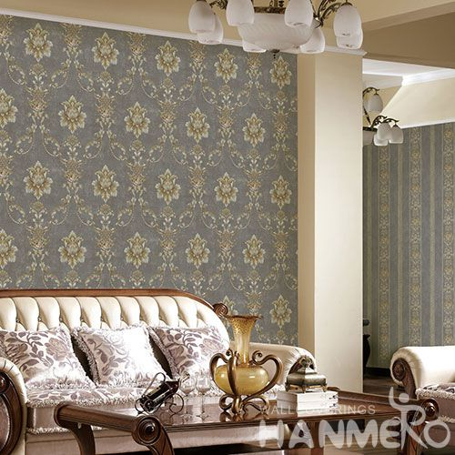 HANMERO Washable Non-woven Floral 0.53 * 10M Wallcovering for Hotels Restaurants Chinese Wallpaper Supplier European Style