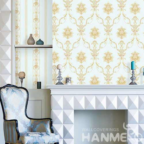 HANMERO Modern European Style Non-woven Wallcovering 0.53 * 10M Factory Sell Directlly Wallpaper for Bedroom in Stock Wholesale