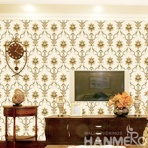 HANMERO CE certificate Removable Non-woven Wallpaper 0.53 * 10M Nightclub Saloon Decoration Wallcovering Professional Manufacture