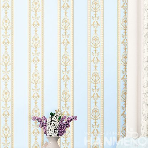 HANMERO Best Selling Beatiful Stripes Non-woven Wallpaper 0.53 * 10m / Roll Wallcovering for Interior Wall Designer Chinese Factory