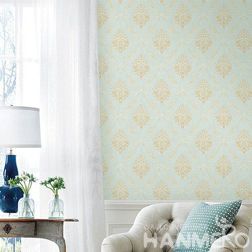 HANMERO Household Living Room Classic Gloden Flowers Wallpaper 0.53 * 10M Wallcovering Chinese Seller Top Grade Decorative