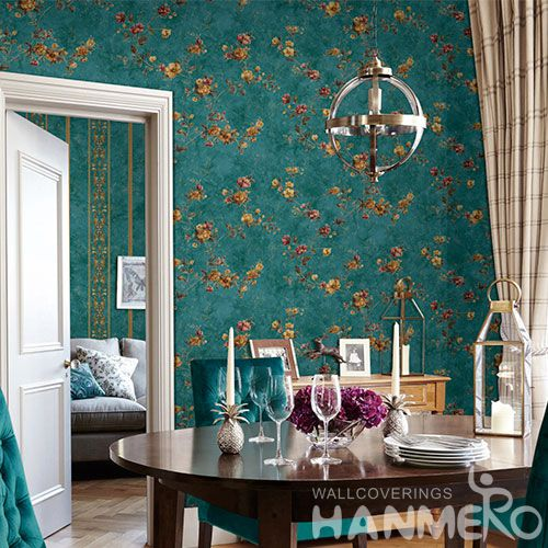 HANMERO Modern Living Room Cozy Flowers Wallpaper 0.53 * 10M / Roll Wallcovering Exported for Wall Decoration New Design
