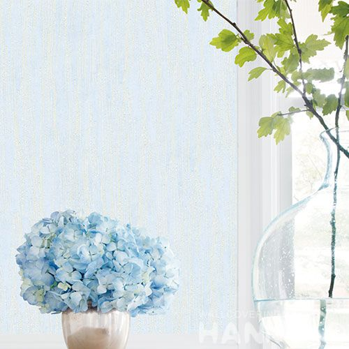 HANMERO Light Blue Color Modern Simple Non-woven Wallpaper 0.53 * 10M Bathroom Bedroom Decor Wallcovering from Chinese Factory