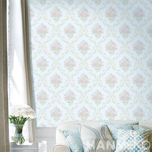 HANMERO Household Living Room Wall Pink Floral Non-woven Wallpaper 0.53 * 10M Best Selling Wallcovering Chinese Factory Modern Style