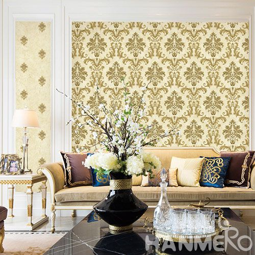 HANMERO Strippable Fancy Color Chinese 0.53 * 10M Non-woven Wallpaper in Modern Classic Style on Sale Factory Sell Directlly Best Prices