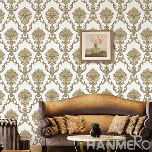 HANMERO Modern Home Interior PVC Environment Wallpaper Vinyl for TV Sofa Background Professional Wallcovering Manufacturer