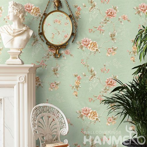 HANMERO Popular Modern Style Interior Household Room Natural Flower Wallpaper 0.53 * 10M PVC Wallcovering Factory Hot Selling