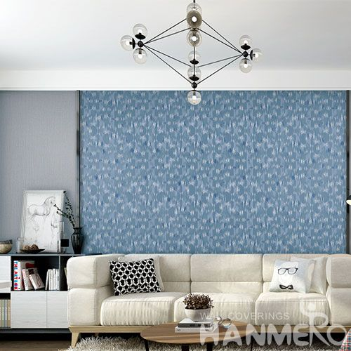 HANMERO Top Selling Modern Simple Design Interior Room Non-woven 0.53*10m Wallpaper Wallcovering Supplier from China