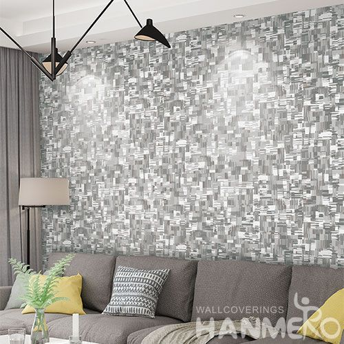 HANMERO Eco-friendly Natural Non-woven Grey Color Wallpaper Modern Style for Elegant Home Livingroom Decoration