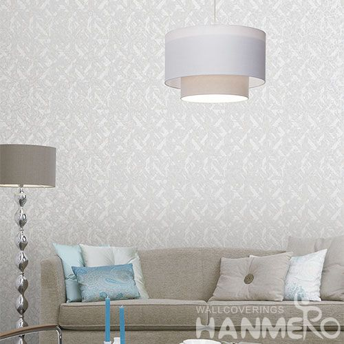 HANMERO New Arrival Hot Selling Non-woven Grey Color Wallpaper for Nightclub Decoration Manufacturer from China