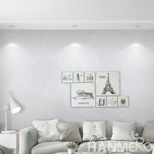 HANMERO Latest Unique Non-woven Pure Color Wallpaper with Top-grade Quality for Wall Decor from Chinese Wholesaler