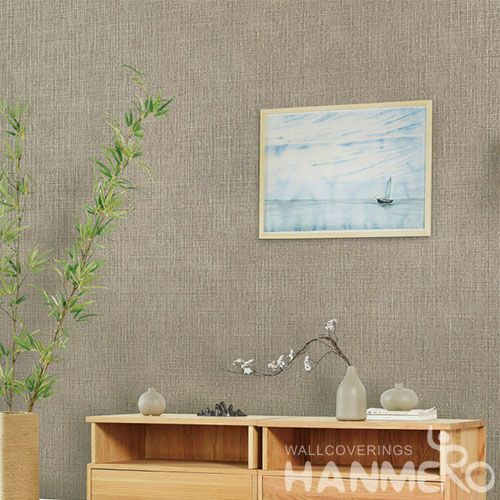 HANMERO Modern Simple Pure Color Design Non-woven Wallpaper for Sofa Backgroung 0.53*10m/Roll Factory Supplier