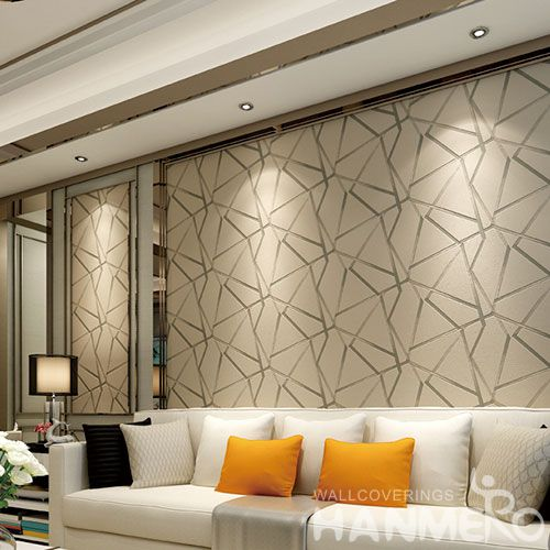 HANMERO Suede 3D Modern Geometric Design Wallcovering Nature Sense Household Decor Wallpaper 0.53 * 10M Hot Selling