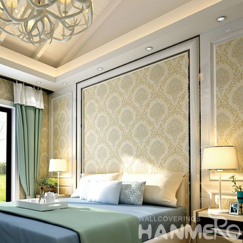 HANMERO Suede Strippable Classic Style Wallpaper 0.53 * 10M Professional Chinese Wallcovering Exporter Best Prices