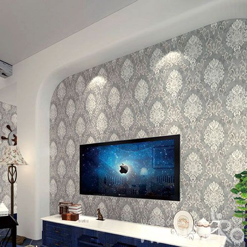 HANMERO Household Living Room Wall Suede Wallpaper 0.53 * 10M Foaming Hot Sex Wallcovering from Chinese Seller Top Grade