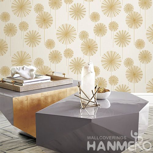 HANMERO 0.53 * 10M New Arrival Strippable Beige Color PVC Deep Embossed Wallpaper Modern Style Elegant Home Bathroom Wall Decoration
