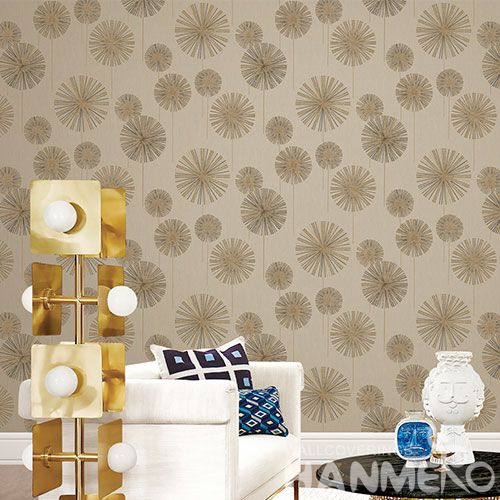 HANMERO PVC Fancy Special Design PVC Deep Embossed Wallpaper Dark Brown Color for Room Wall Decoration Professional Manufacturer