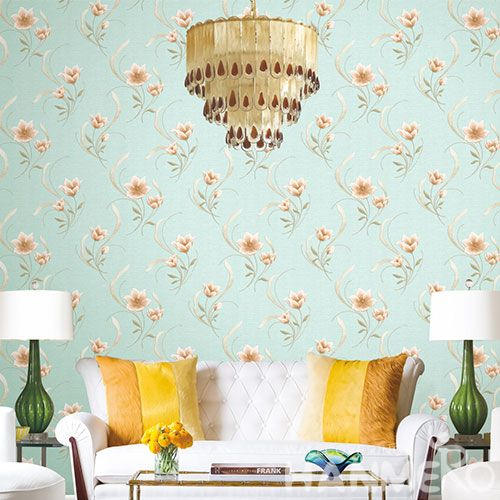 HANMERO Office Study Room Decorative Wallcovering Chinese Factory PVC Deep Embossed Floral Design Wallpaper High Quality