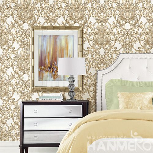 HANMERO Strippable High Quality Damask Design Pattern PVC Wallpaper Wholesaler Exporter from China Factory Sell Directly
