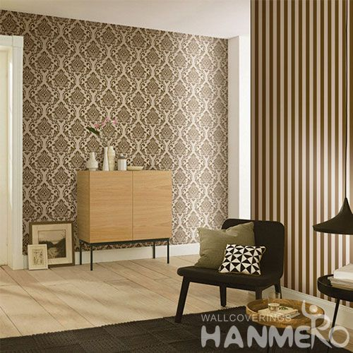 HANMERO Strippable Bedding Room Decorating Home Furnishing Wallpaper 0.53 * 10M / Roll Damask Wallcovering Manufacturer