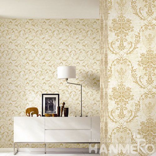 HANMERO Removable 0.53 * 10M / Roll Non-woven Wallpaper Retail Stores Classic Style for Sofa TV Background Wall Decor