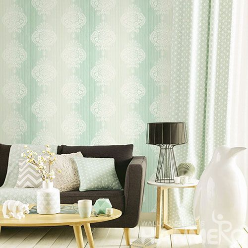 HANMERO Removable Damask Feature Wallpaper Designs 0.53 * 10M Lounge Rooms Decor from Chinese Wallcovering Vendor Newest