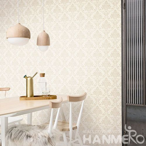 HANMERO Chinese Classic Damask Design Wallcovering 0.53 * 10M Removable Discount Wallpaper Office Exhibition Wall High Quality