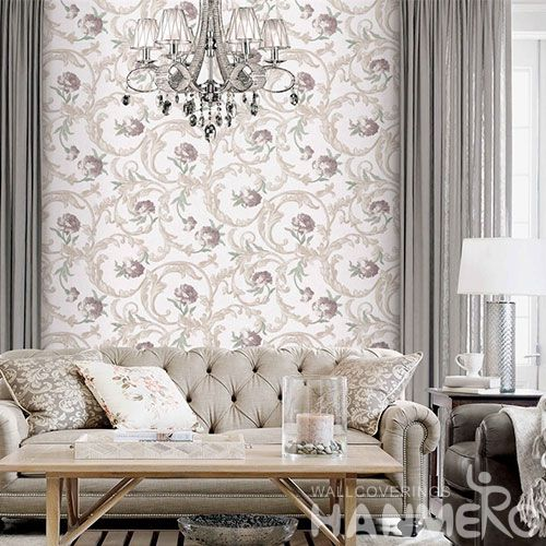 HANMERO New Arrival Nice Floral Design Waterproof 1.06M PVC Wallpaper for Home Interior Decor Factory Sell Directly