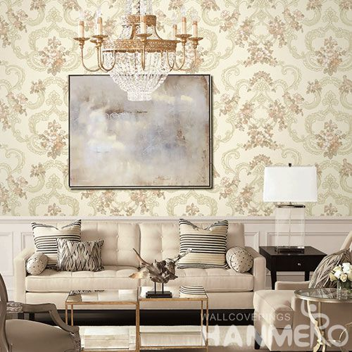 HANMERO Modern European Floral Design PVC Wallpaper for Sofa TV Background Wholesale Prices with Unique Technology