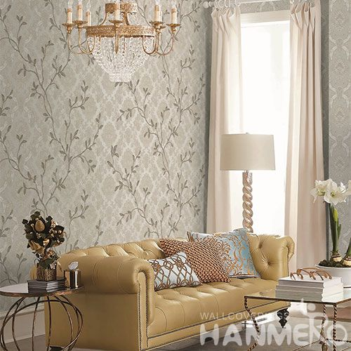 HANMERO PVC 1.06M Strippable Wallpaper European Style Living room Interior Wall Decoration Wallcovering Supplier