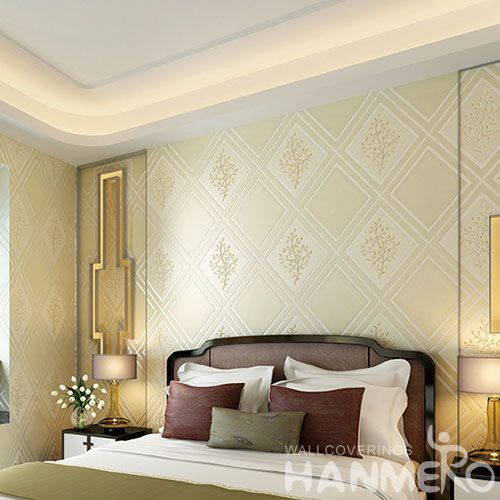 HANMERO Chinese New Fashion 0.53 * 10M Suede Wallpaper Geometric Trees Pattern for Living Room Wall Manufacturer Designer