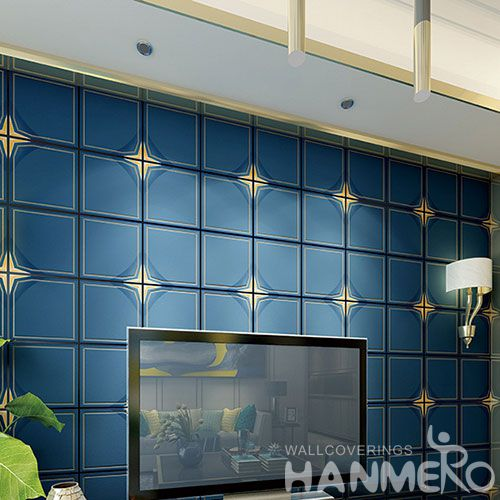 HANMERO Strippable Modern Simple 0.53 * 10M Bedroom Suede Wallpaper Foaming Technology Chinese Wholesale Exporter