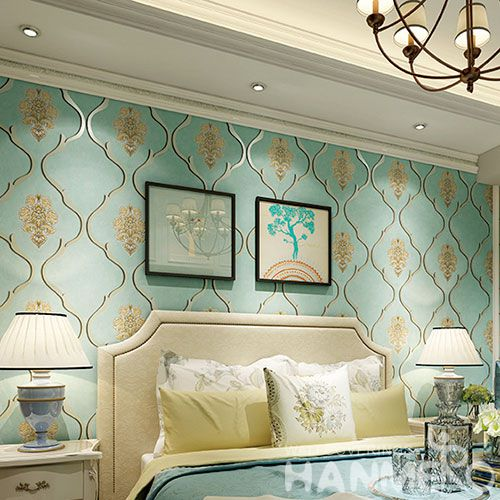 HANMERO New Pulished Modern Eco-friendly 0.53 * 10M Foaming Suede Wallpaper Flowers Pattern Home Interior Decor Cozy