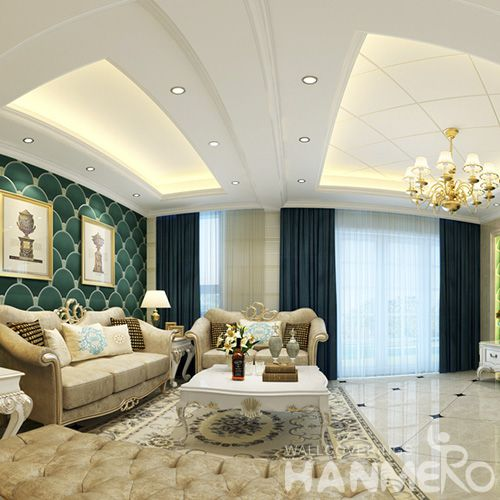 HANMERO Decorative Interior Wallcovering Manufacturer 0.53 * 10M Suede Wallpaper Wholesale Trader 3D Textured