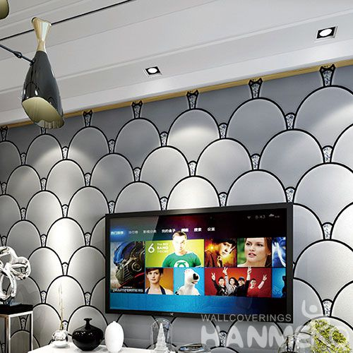 HANMERO Professional Home Fancy Wallcovering Suede Wallpaper 0.53 * 10M for Study Room Wall from China Chinese