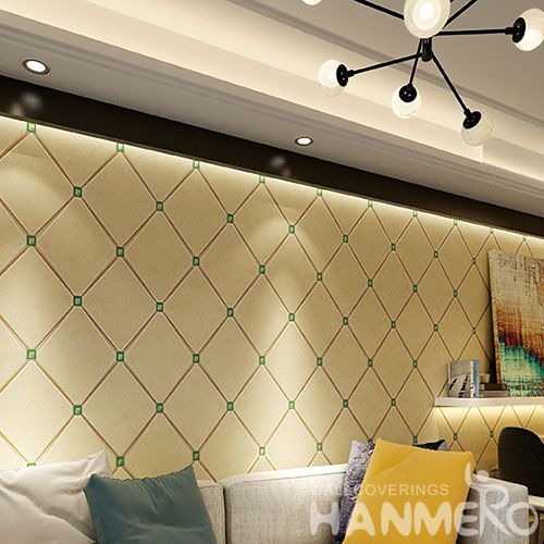 HANMERO Best-selling High Quality 0.53 * 10M Suede Wallpaper 3D Geometric Pattern for TV Bachground Wall Decor