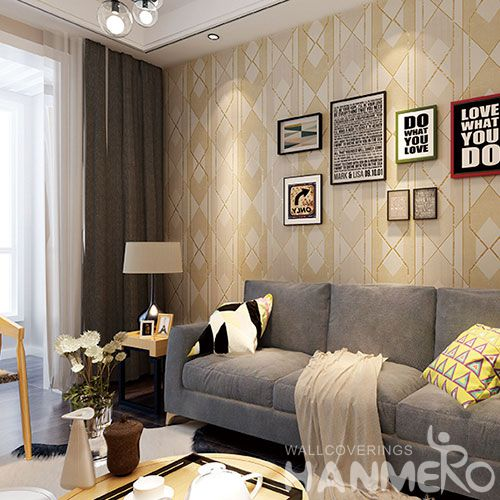 HANMERO Modern Design Suede Wallpaper 0.53 * 10M with Foaming Technology for Luxury Home Decoration from China