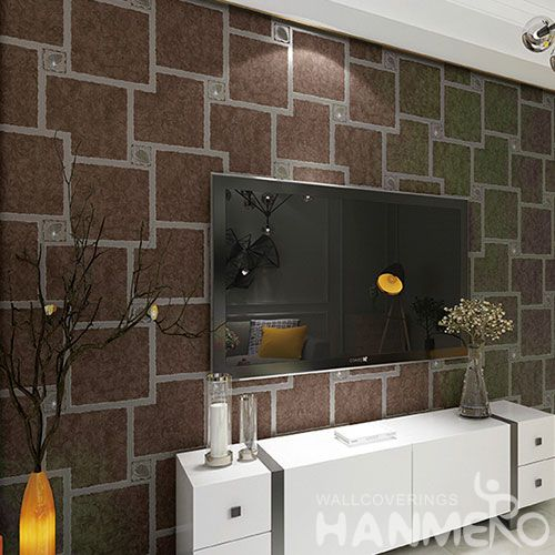 HANMERO Affordable 0.53 * 10M Suede Wallpaper with Geometric Designs for Household Decoration Factory Sell Directlly