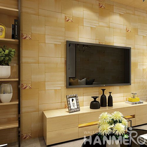 HANMERO Modern Classic Style Beige Color Suede Wallpaper for Home Living Room Wall Decoration 0.53 * 10M at Wholesale Prices