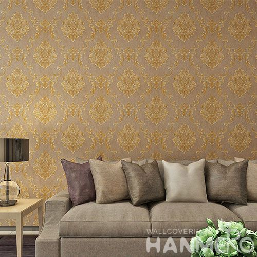 HANMERO European Classic PVC 0.53 * 10M Wallpaper Best Prices from Chinese Wallcovering Dealer for Study Room Decoration