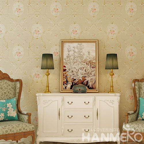 HANMERO Modern Eurpean Style 0.53 * 10M / Roll Chinese Natural Material Wallpaper Wallcovering Distributors Hot Sex for Living Room