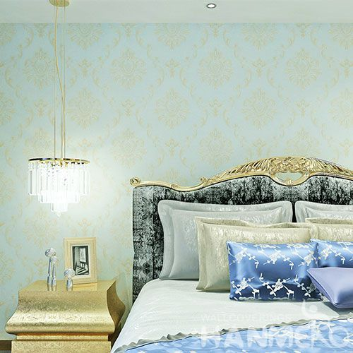HANMERO PVC Strippable Blue Color Wallpaper Professional Chinese Wallcovering Exporter Wholesale Prices Kids Room Decor