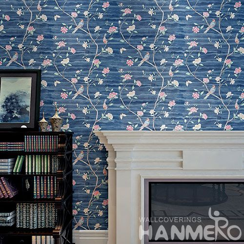 HANMERO Modern Pink Flowers Design PVC 0.53 * 10M Wallpaper Room Wall Decor Wallcovering Wholesaler Competitive Prices