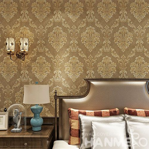 HANMERO Classic Damask PVC Wallpaper 0.53 * 10M Nature Texture Study Room Decor Chinese Wallcovering Dealer Latest