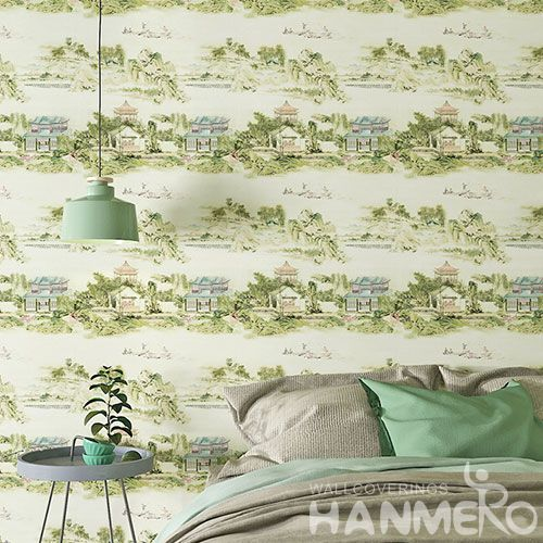HANMERO Exported Affordable Household Colorful Wallpaper Nature Scenery Pattern 0.53 * 10M Wallcovering  Chinese Factory