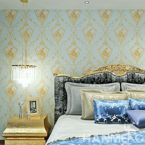 HANMERO Light Blue Modern Flowers PVC Wallpaper 0.53 * 10M Household Decor Wallcovering  from China Photo Quality
