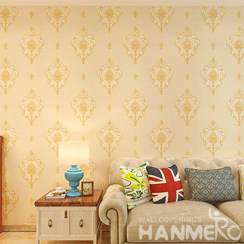 HANMERO Fancy Design PVC 0.53 * 10M Modern European Wallpaper Wholesale Prices from Chinese Wallcovering Dealer