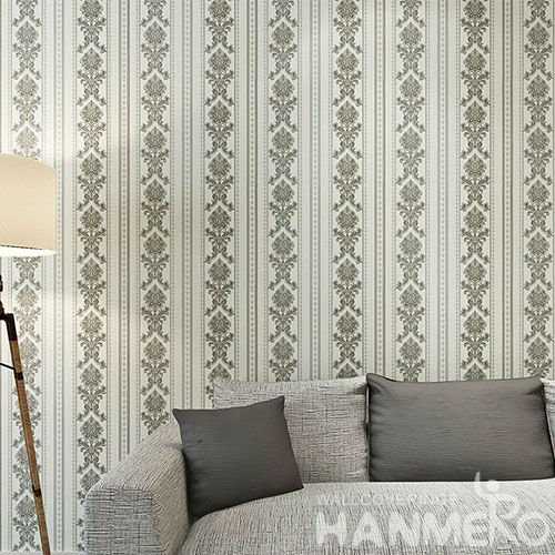 HANMERO European Modern Stripes Design 0.53 * 10M PVC Wallpaper for Living Room Decoration Best Prices