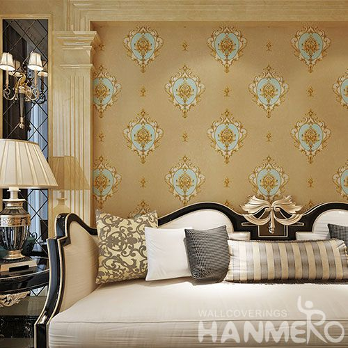HANMERO PVC Classice Luxury Design 0.53 * 10M Wallpaper European Style Chinese Professional Wallcovering Seller